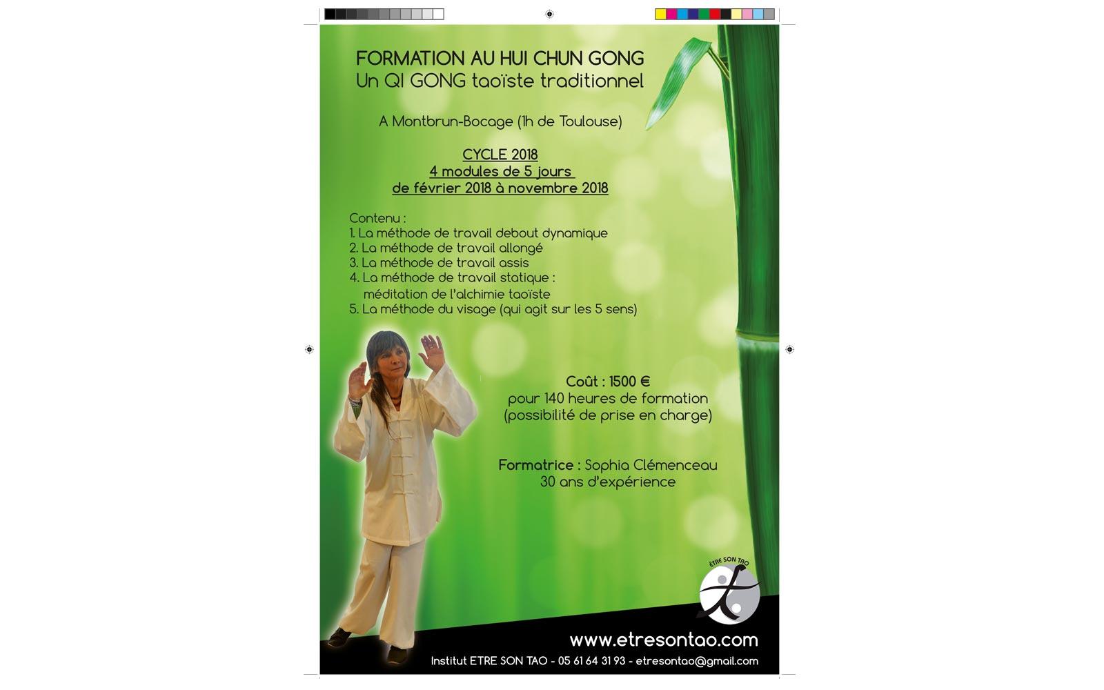 Affiche Formation Hui Chun Gong