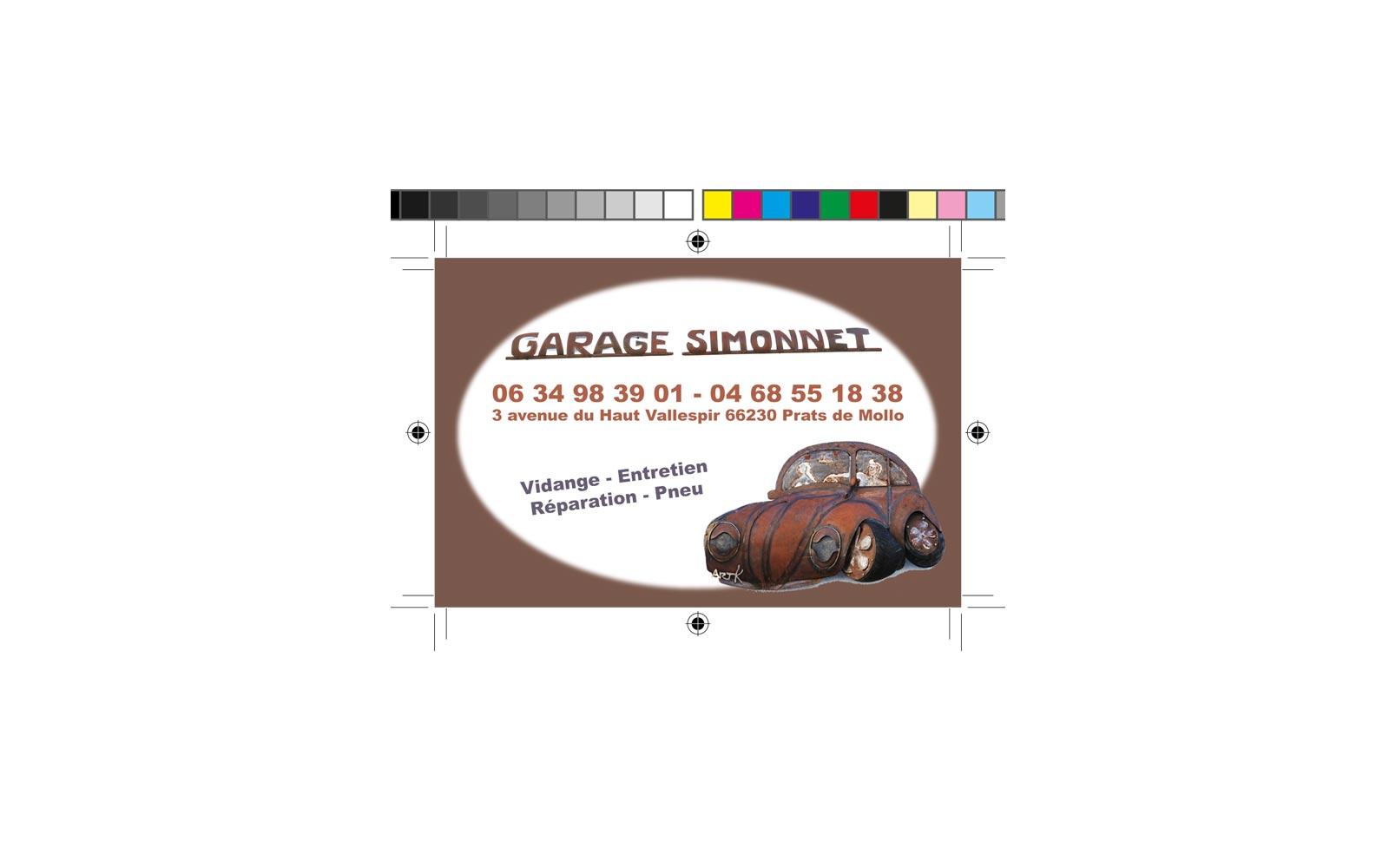Carte De Visite Garage Simonet