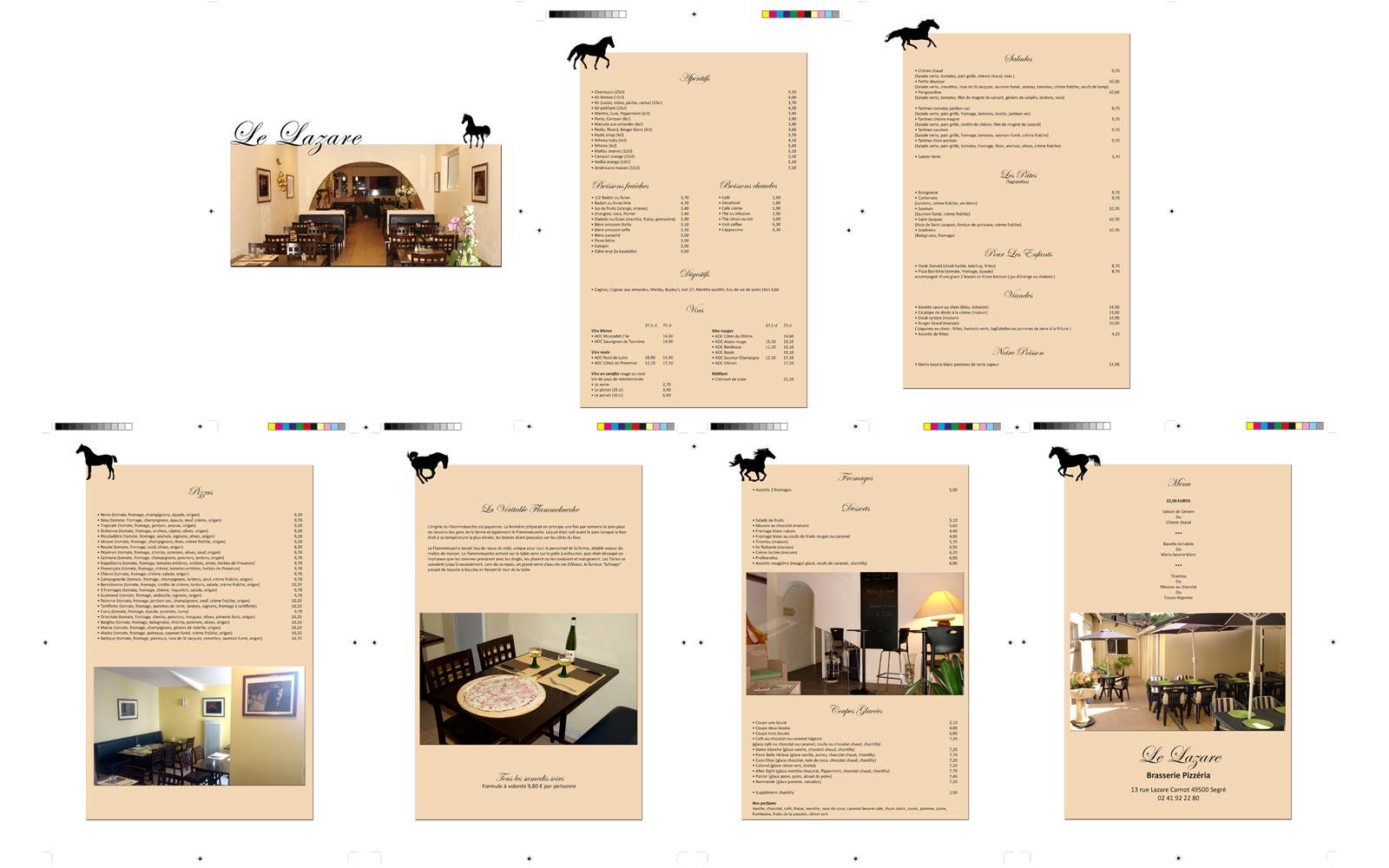 Carte Restaurant Le Lazare