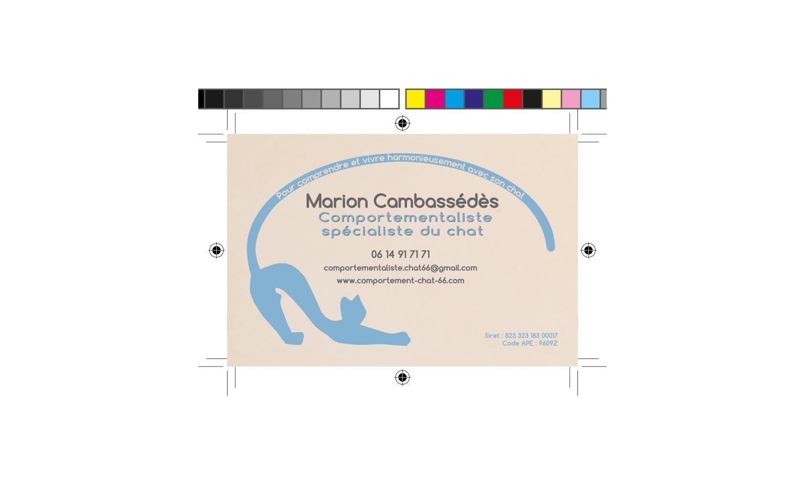 Carte De Visite Marion Cambassédès